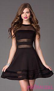 Prom girl black short dresses
