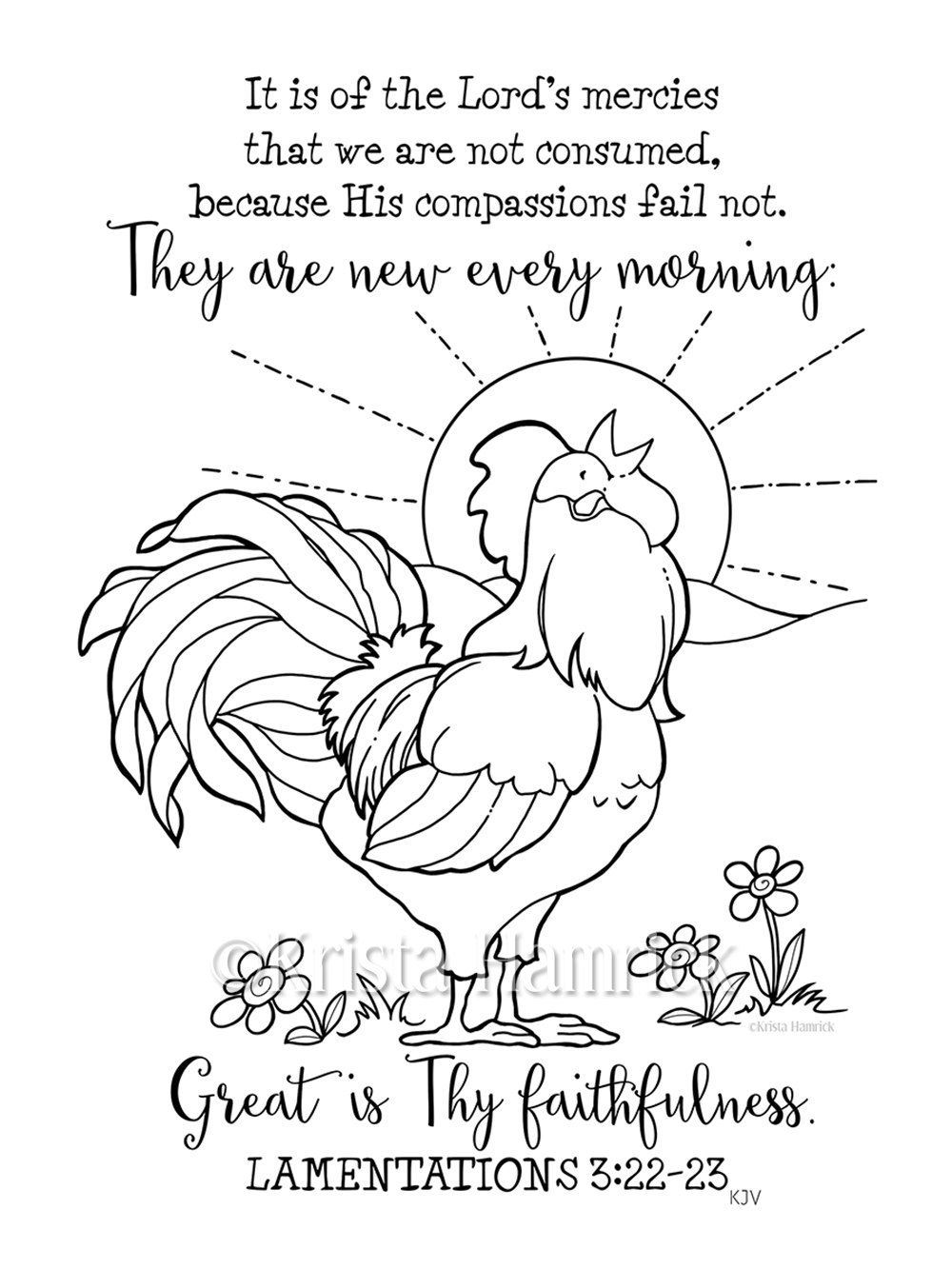 his mercies are new every morning coloring page two sizes