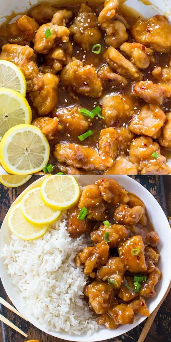 Crispy Honey Lemon Chicken - 30minutesmeals.com Cr