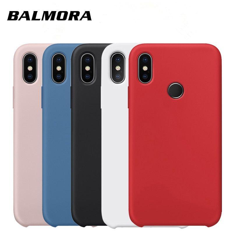Balmora Liquid Silicone Case For Xiaomi Redmi 7 6 6a 6pro Protective Original Back Cover For Redmi Note 5 7 Pro Phone Shell Alieks Capas Para Telefone Telefone