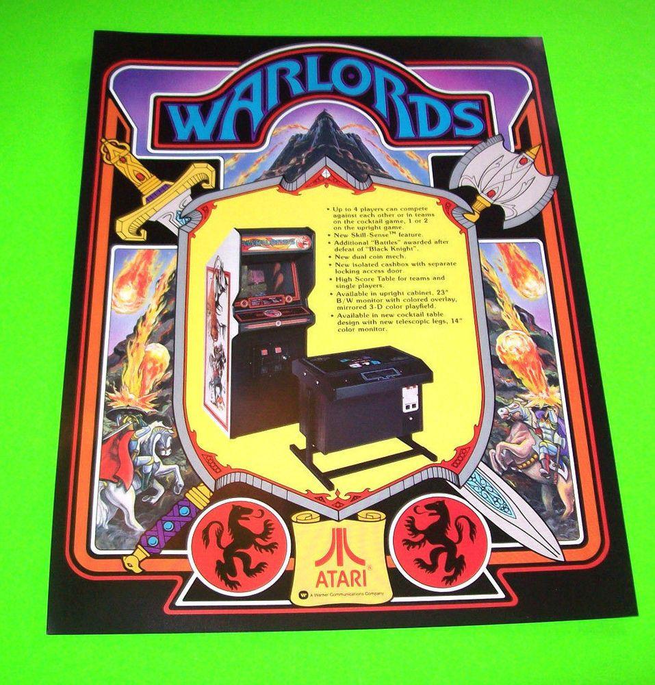 Atari WARLORDS 1981 Original NOS Video Arcade Game Promo