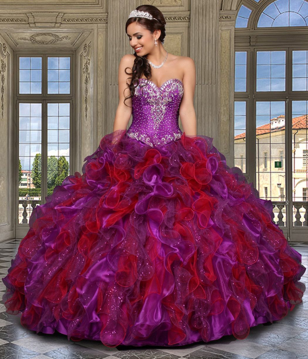 by DaVinci Quinceanera Dress Style 80245
