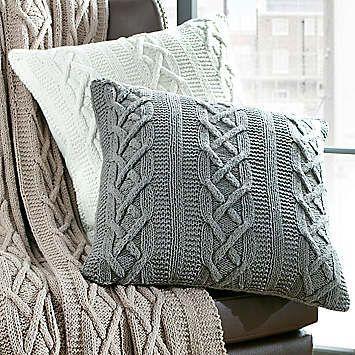Aran Cushions Pillows Pinterest Knit Pillow Blanket And Knit