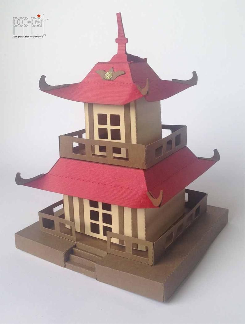 Pagoda Etsy In 2020 Japanese Pagoda Paper Flower Tutorial Diy Projects To Try