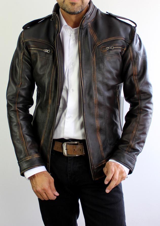 2018 Ax Leather Jacket Distressed Black Xsmall Leather Jacket