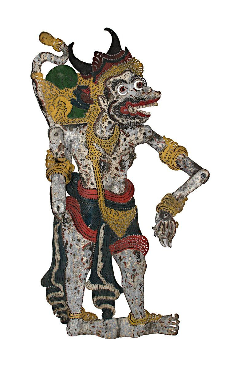 Unknown Shadow Puppet Wayang Purwa Leather Created In Indonesia In The 19th Century Shadow Puppets Historical Art Culture Of Indonesia
