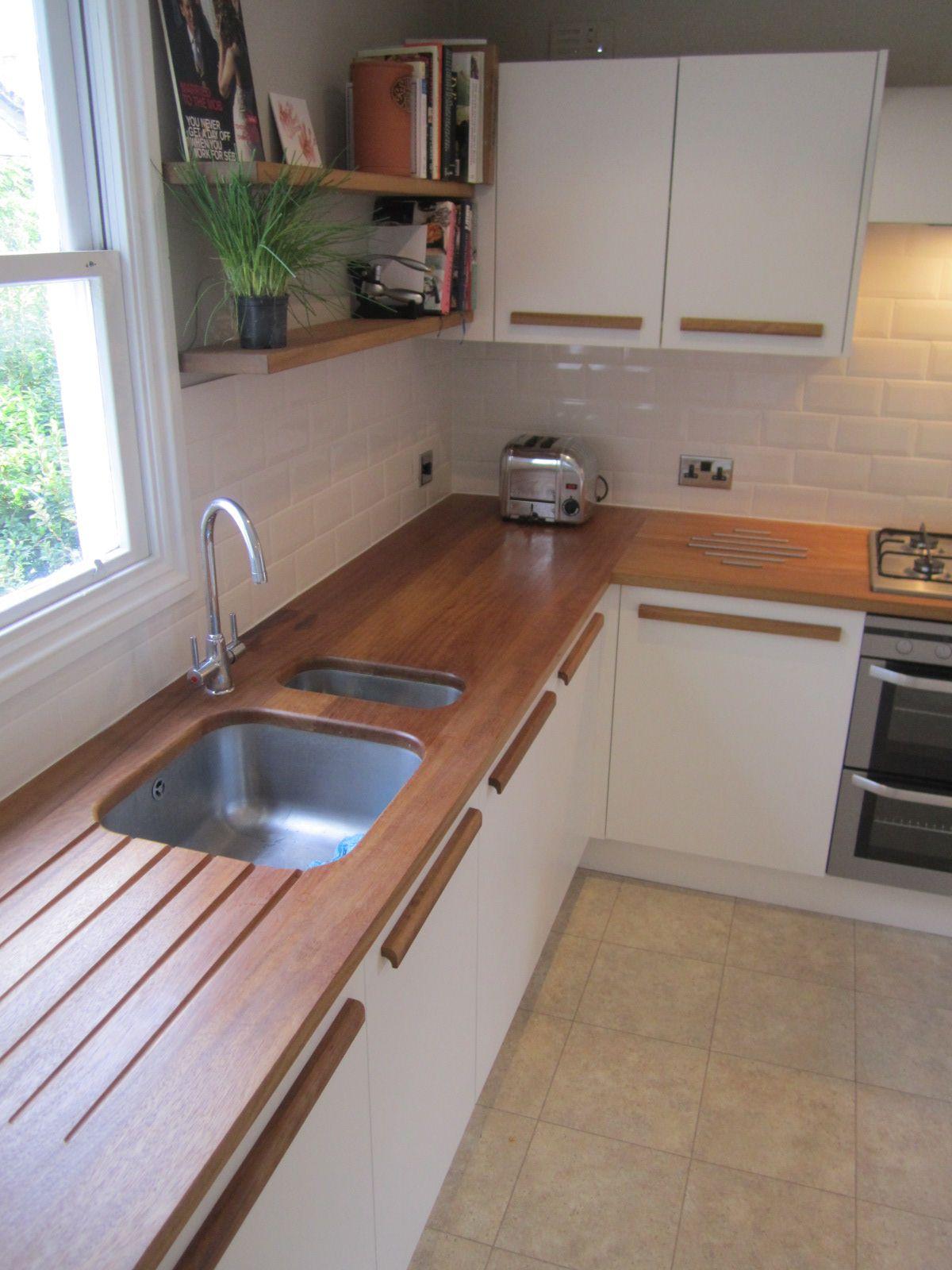 Kitchen Spray Painted Doors Solid Iroko Handles And Tops Kitchen Inspirations Kitchen Interior Kitchen