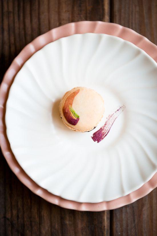 Coconute Rose Chocolate Macarons / Stephanie  Shih