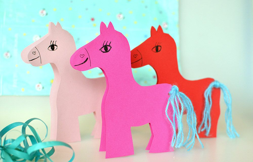 Photo of Horse invitations for the children's birthday: Download template