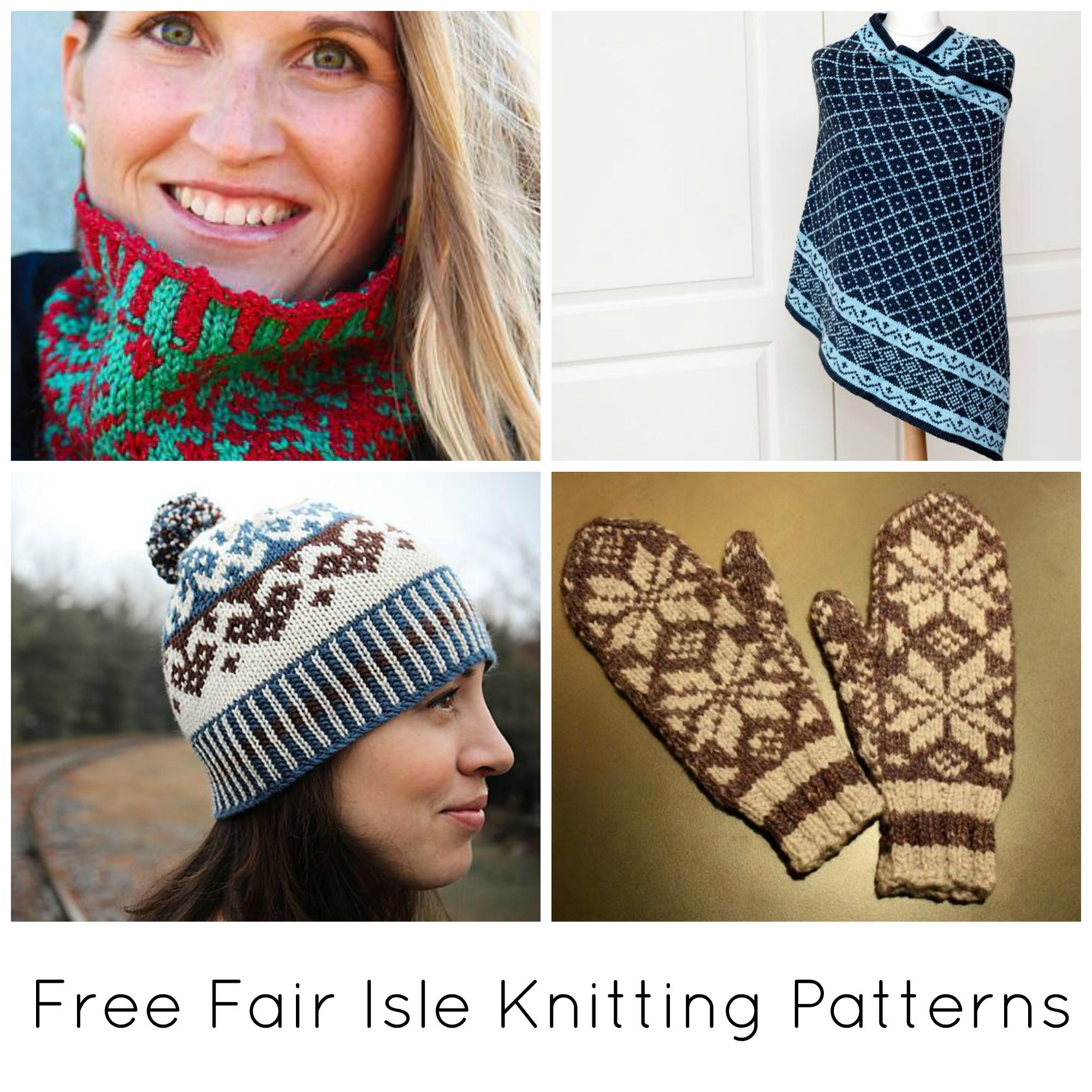 10 FREE Fair Isle Knitting Patterns on Craftsy   Pinterest ...