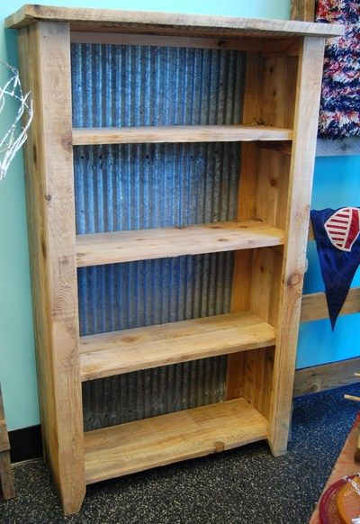 Rustic Shelving Unit Reclaimed Wood Galvanized Steel
