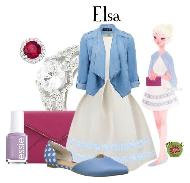 """""""Punziella: Elsa"""" by merahzinnia ❤ liked on Polyvore featuring Journee Collection, Rebecca Minkoff, WithChic, BC Footwear, Forever New, Allurez and Essie"""