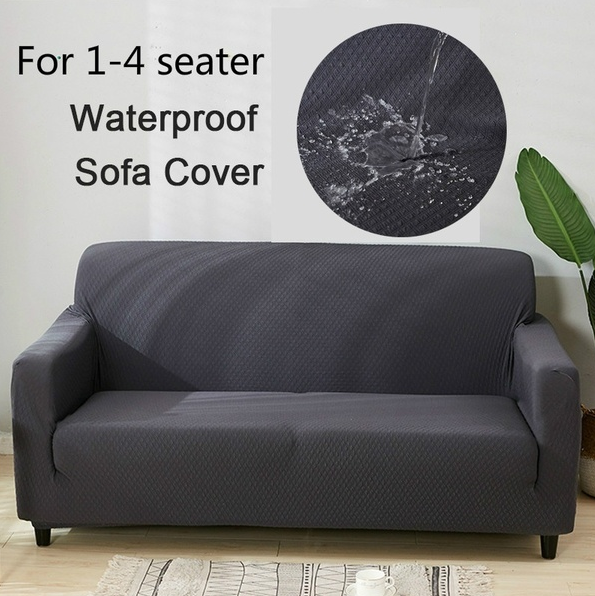 Waterproof Solid Color Sofa Cover Slipcover In 2020 Sofa Covers Slipcovers Simple Sofa