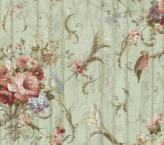 vintage french country wallpaper - Google Search | For the ...