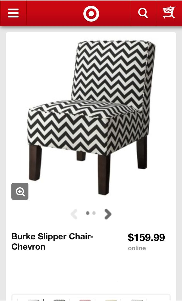 @Target black and white chevron chair
