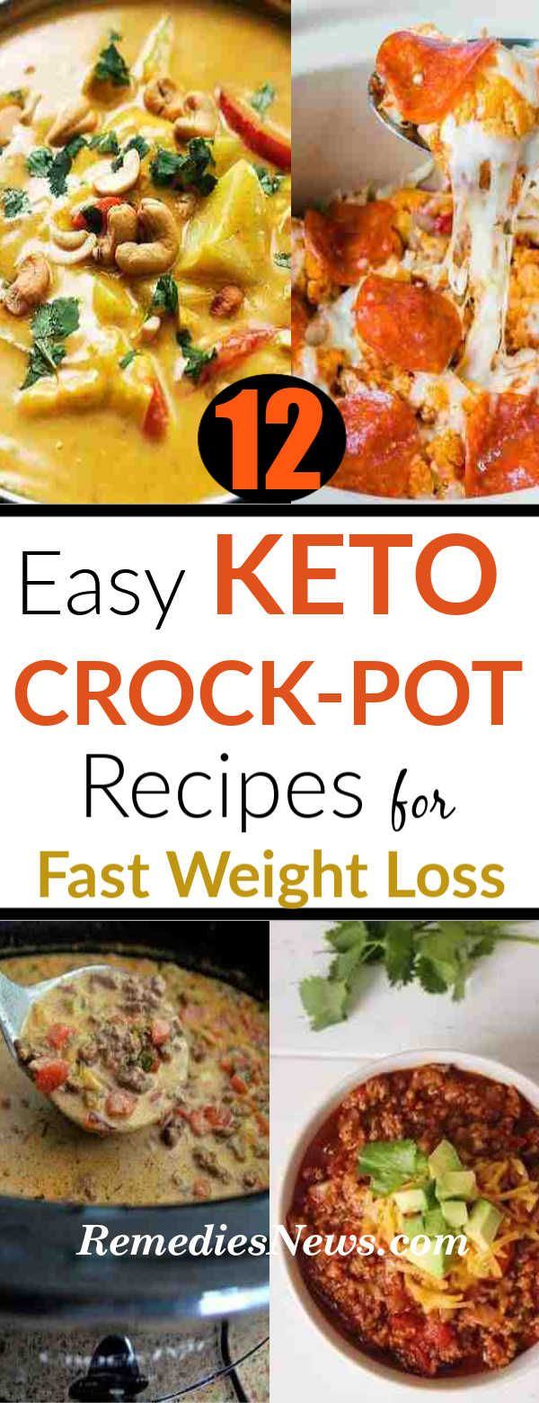 Keto Crockpot Recipes for Weight Loss: 12 Easy Ketogenic Diet Meal Plan for Weight Loss images