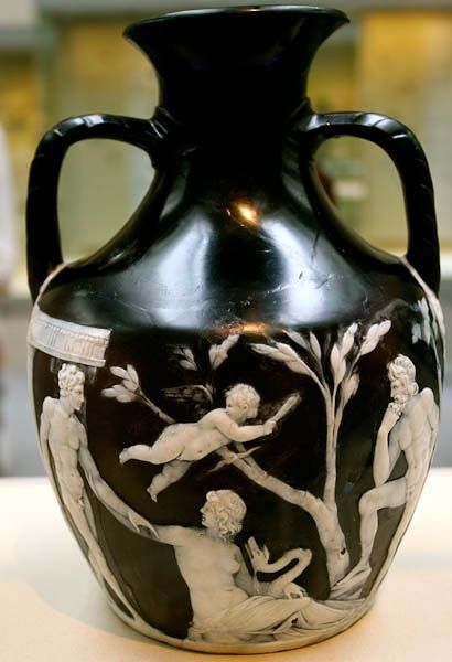 Portland Or Barberini Vase Made Between 5 And 25 Ce On Display