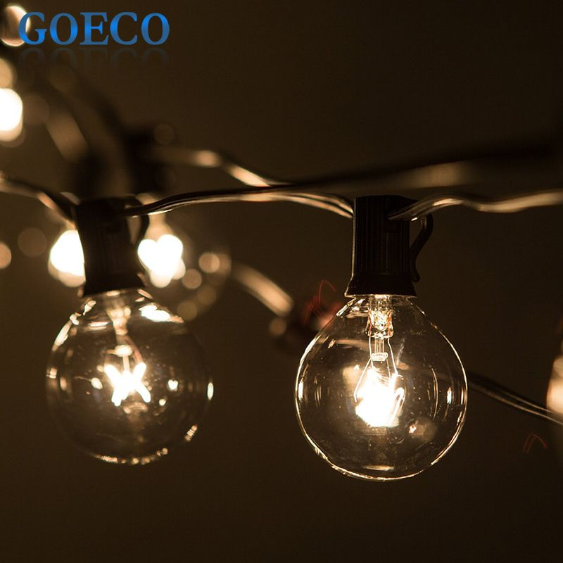 Exceptionnel Globe String Lights G50 25 Clear Globe Bulbs On 25Ft. Long Black Wire, UL