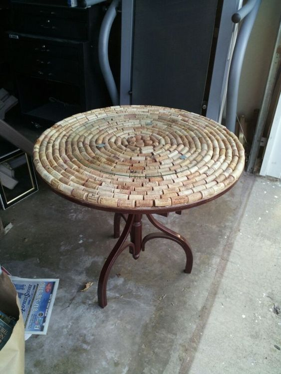 cork table crafts Pinterest
