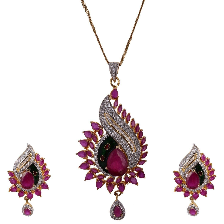 Agarwal Bentex Gold Plated Pendant Set For Women