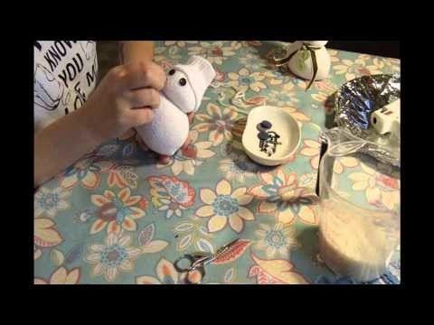Pupazzo di neve con calzino tutorial.Christmas Craft Projects sock snowman diy.