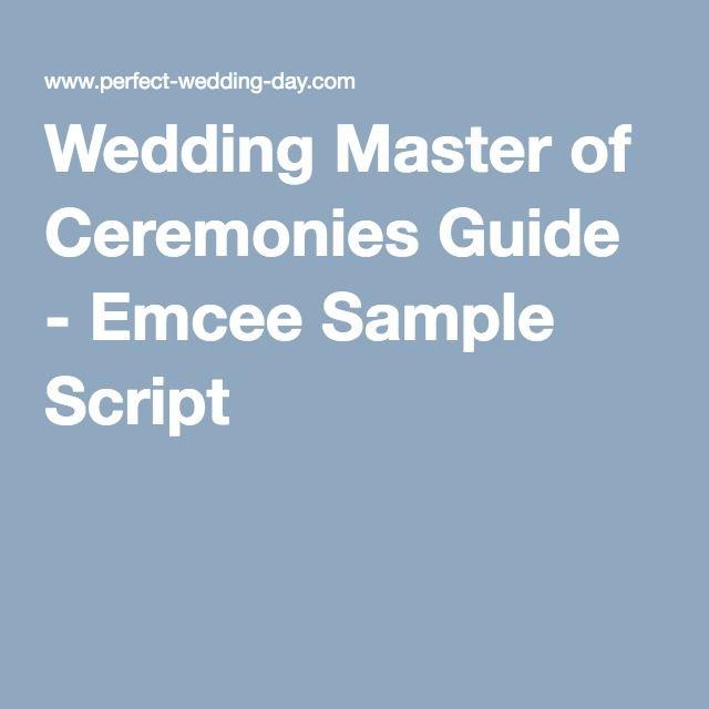 Sample Wedding Ceremony Scripts: Wedding Master Of Ceremonies Guide