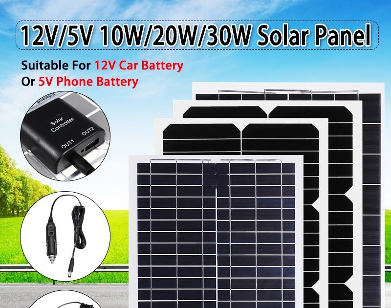 Best Seller Flexible Solar Panel Plate 12v 5v 10w 20w 30w Solar Charger For Car Battery 12v 5v Phone Battery Flexible Solar Panels Solar Solar Energy For Home