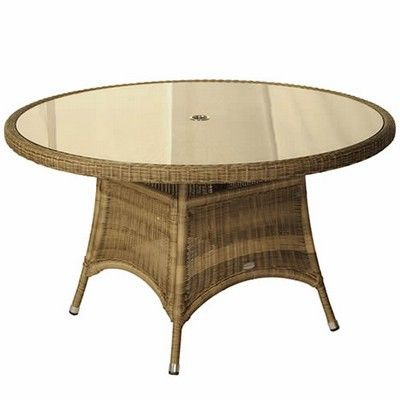 Bramblecrest Sahara Round Table 130cm (3mm Latte) -Woven