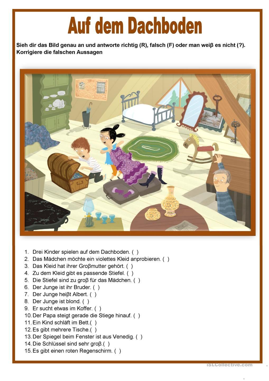 bildbeschreibung auf dem dachboden learn german. Black Bedroom Furniture Sets. Home Design Ideas