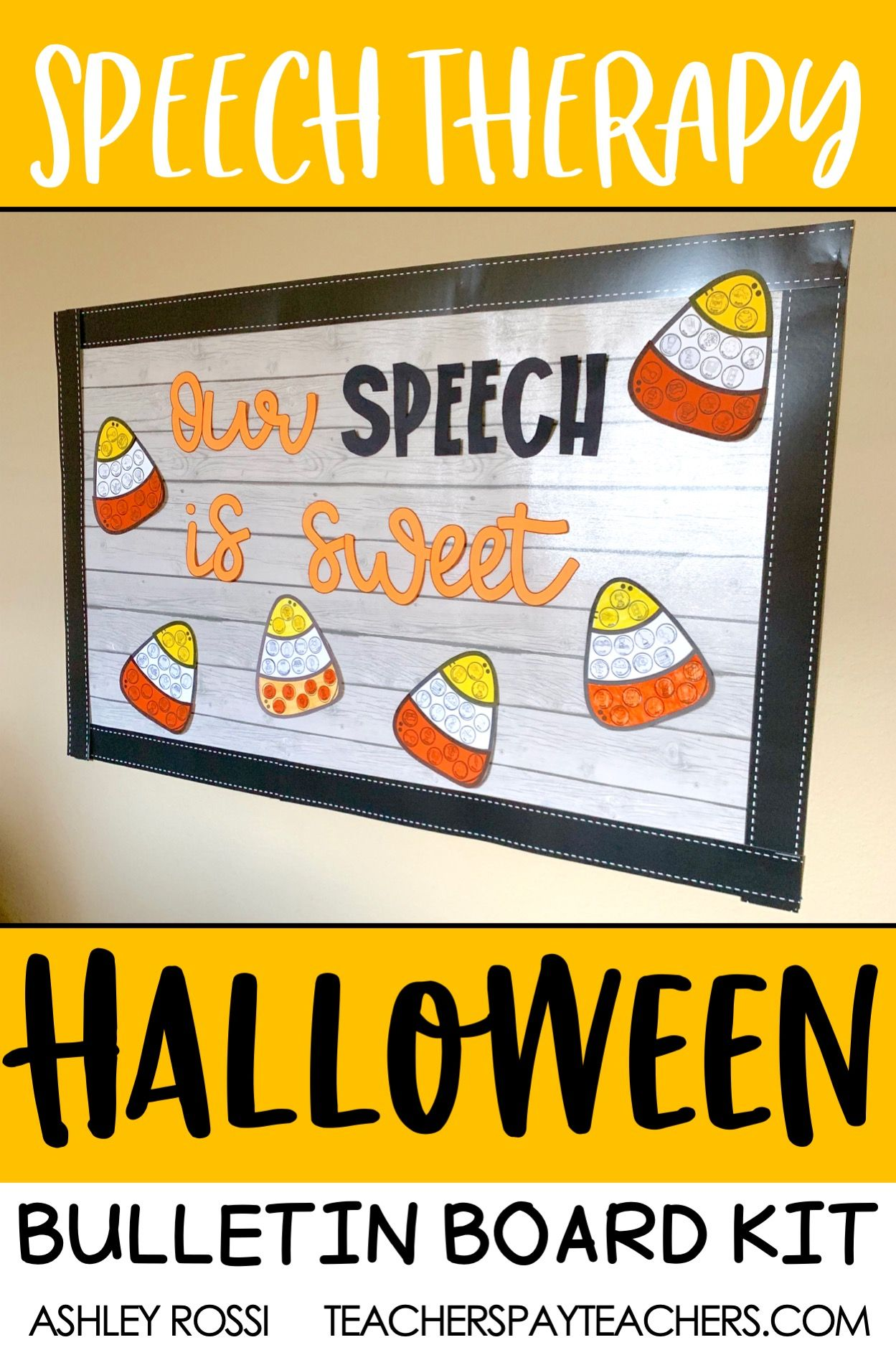 Speech Therapy Bulletin Board & Room Decor + Craft