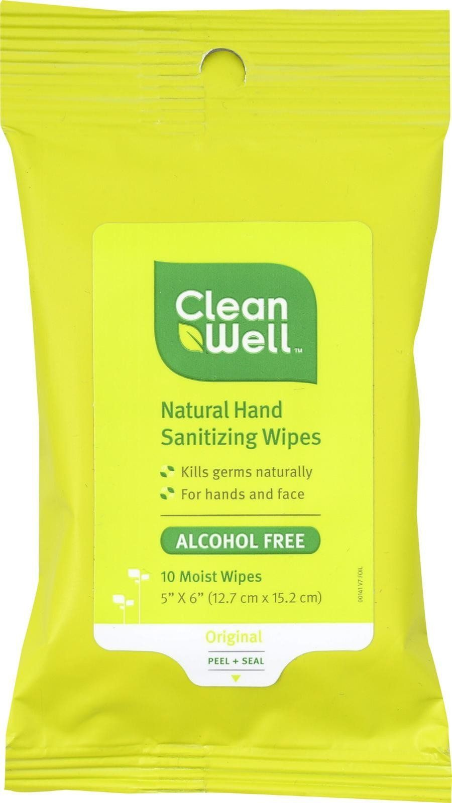 Cleanwell Hand Sanitizing Wipes Are Great For Face And Hands Use