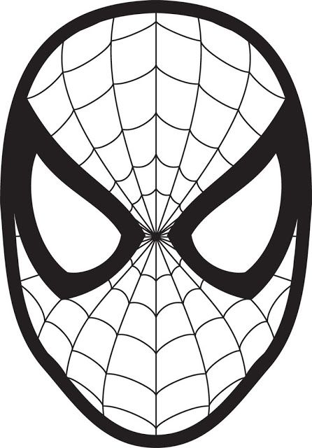 Easy superhero Spiderman pumkin carving pattern templates