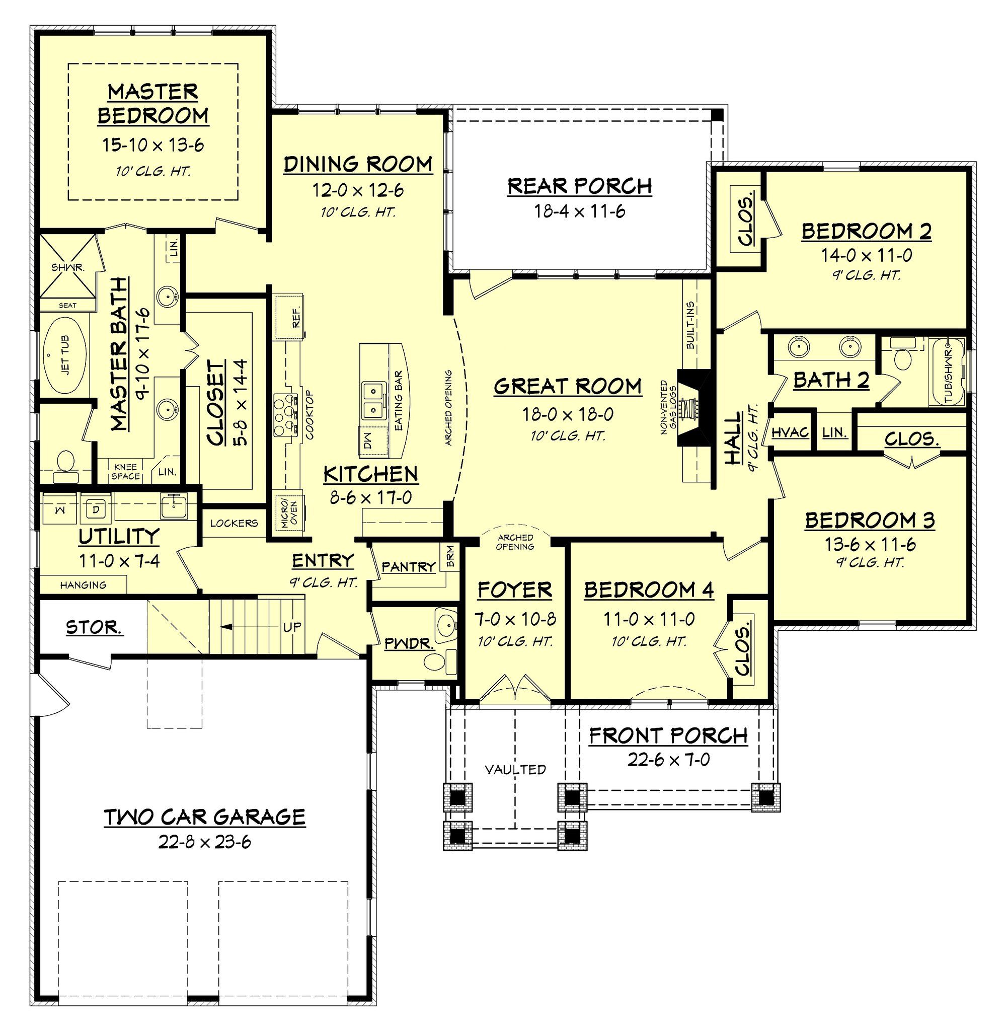 Clairmont House Plan Country Style House Plans House Plans House Floor Plans