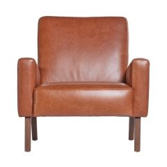 Marlon Armchair in Old English Tan Leather
