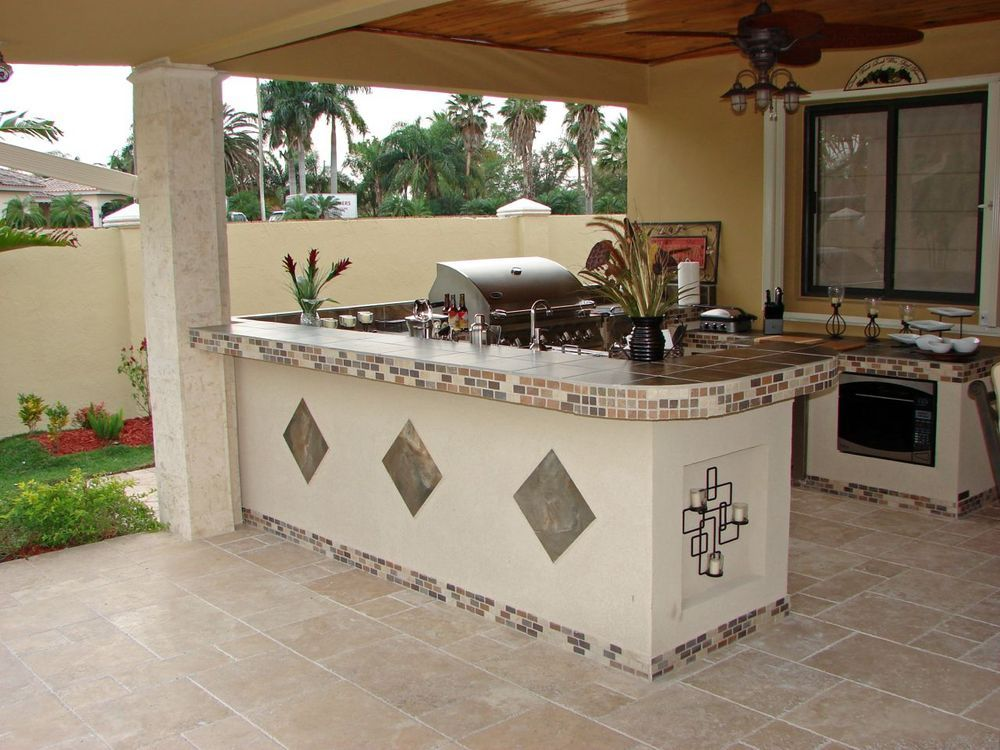 outdoor kitchen tile white rendered outdoor kitchen with inset tile 1309