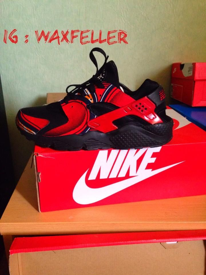 #Huarache #Red #Ankara #Wax#Nike #Waxfeller#Sneakers #Addict