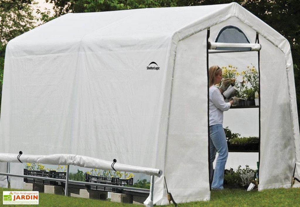Serre De Jardin Souple Avec Aerations En Polyethylene Et Acier 6 M Serre Jardin Serre Aeration