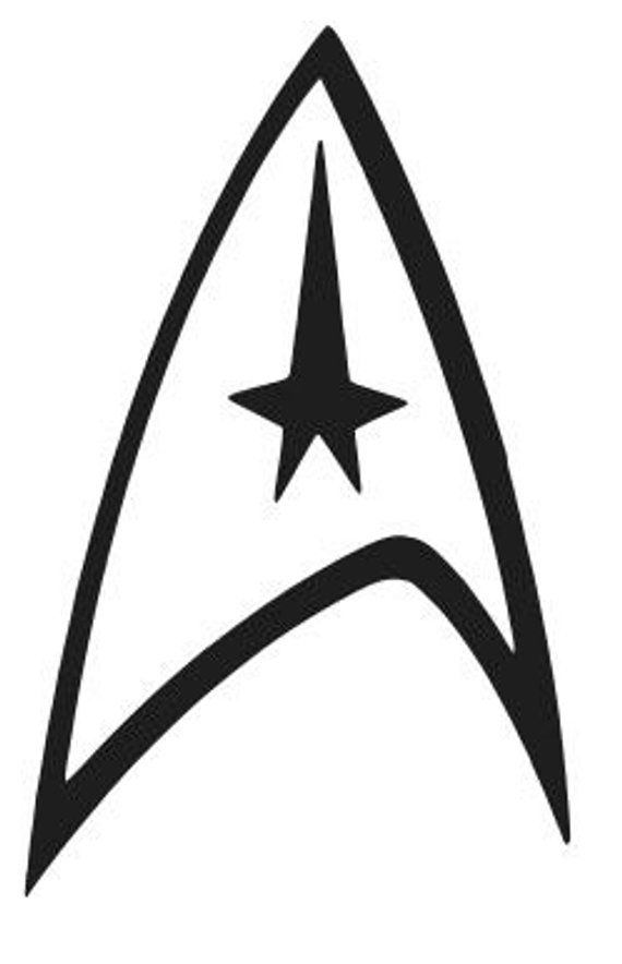 star trek logo vinyl decal sticker car window laptop wall on wall logo decal id=89377