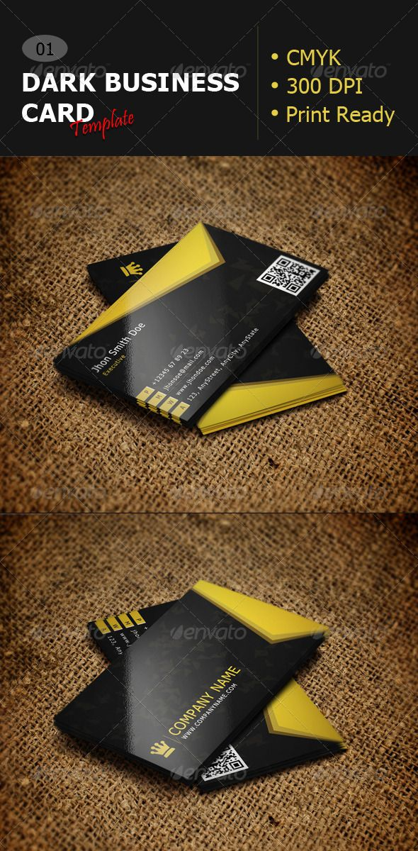 Dark business card template 01 business cards card templates and stylish and creative colorful dark business card design print ready and cmyk with 300 dpi reheart Gallery