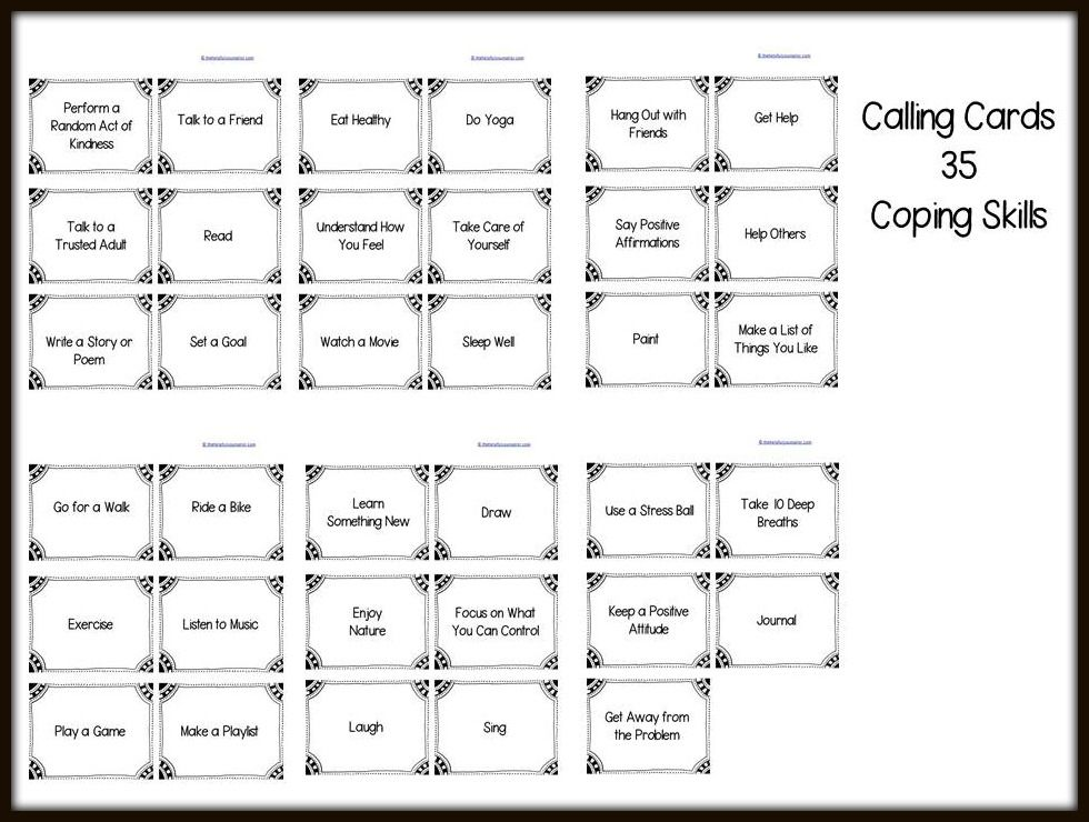 New Counseling Games and Activities FREE Coping Skills Download – Coping Skills Worksheets