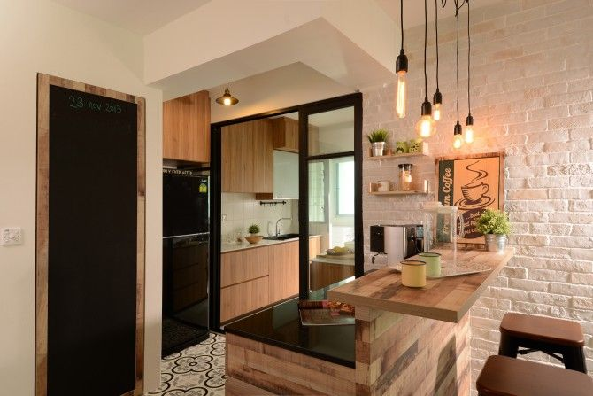Charming Wet/Dry Kitchen Idea. Love The Feel Of This Design As Well!