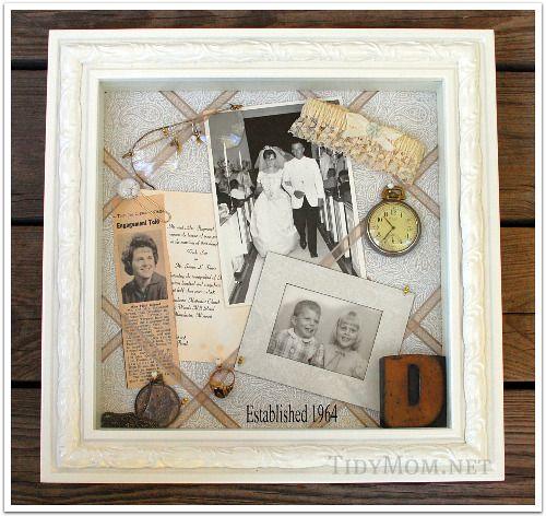 Heirloom Shadow Box -- My grandmother found my great grandmother\'s ...
