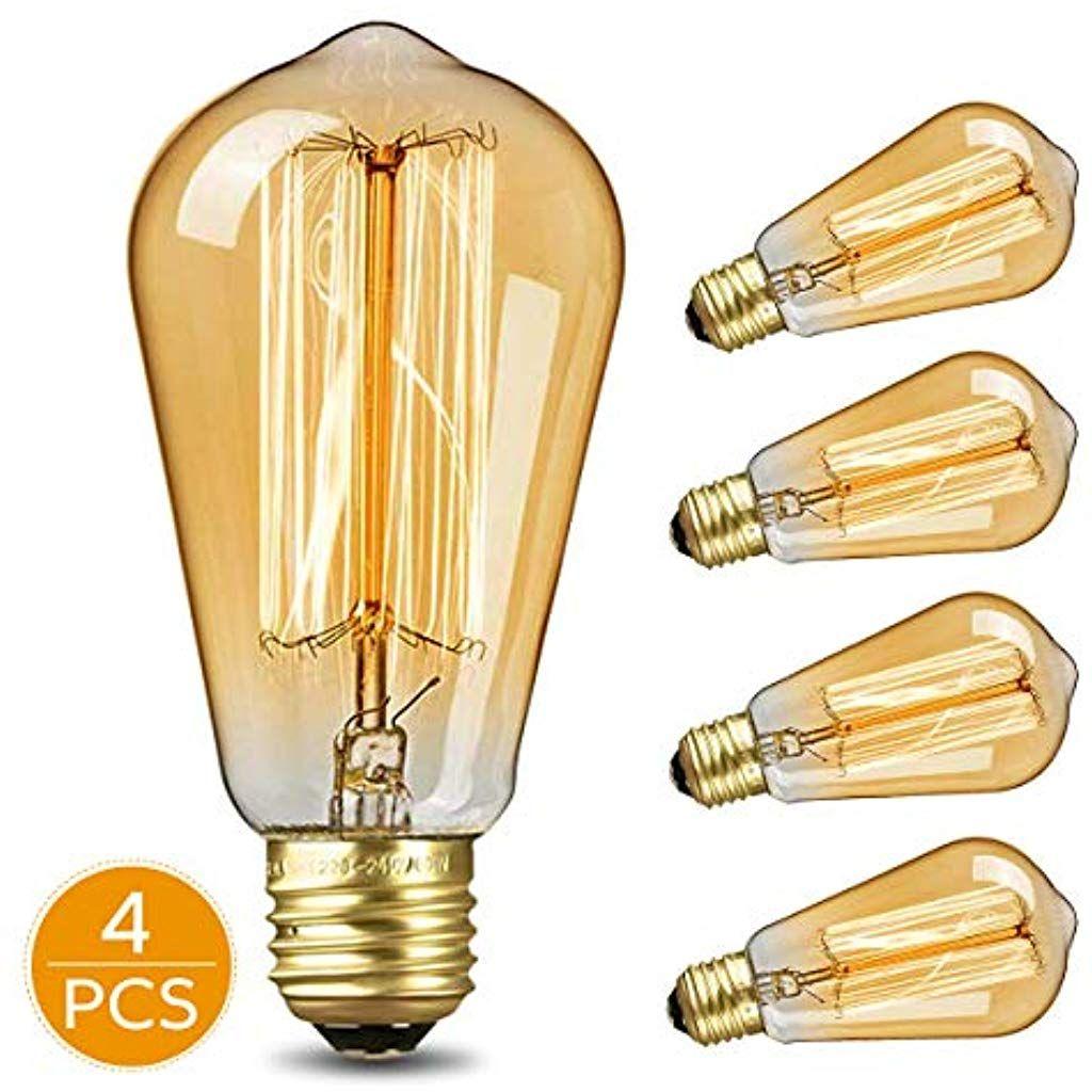 Kktick Lampadina Vintage Edison Lampadine Decorativo Luce Led E27 Retro Stile Lampada Bianca Calda Per Nostalgia E Ret Edison Light Bulbs Light Bulb Home Decor