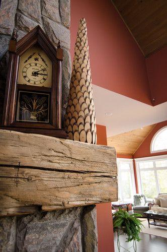 Hand Hewn Barn Beam Mantels Fireplace Accessories