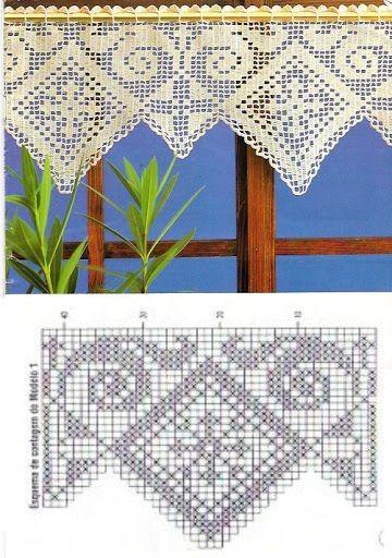 hermosas cenefas crochet (3)   Decoració finestres i portes ...