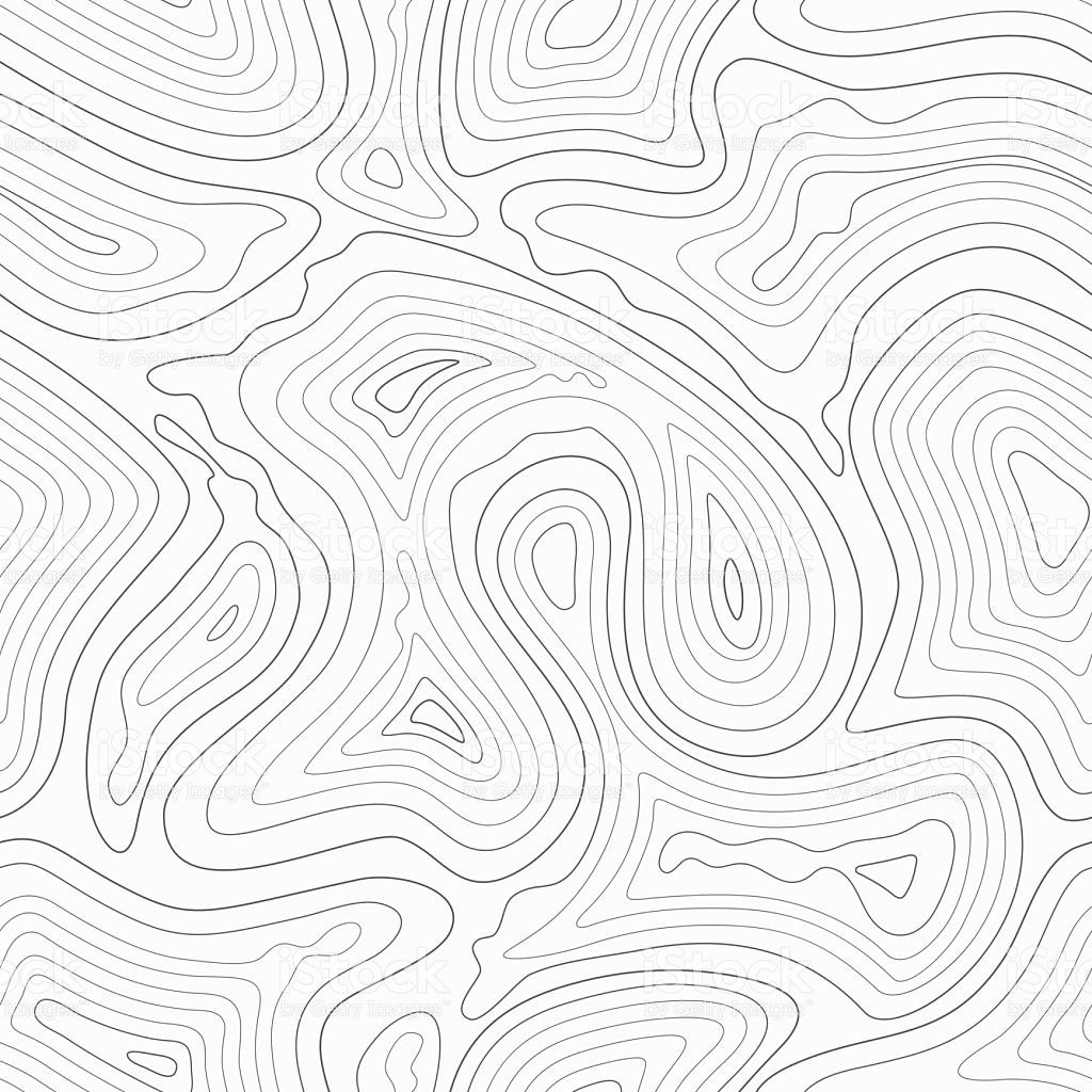 Topographic Contour Lines Vector Map Seamless Pattern Map