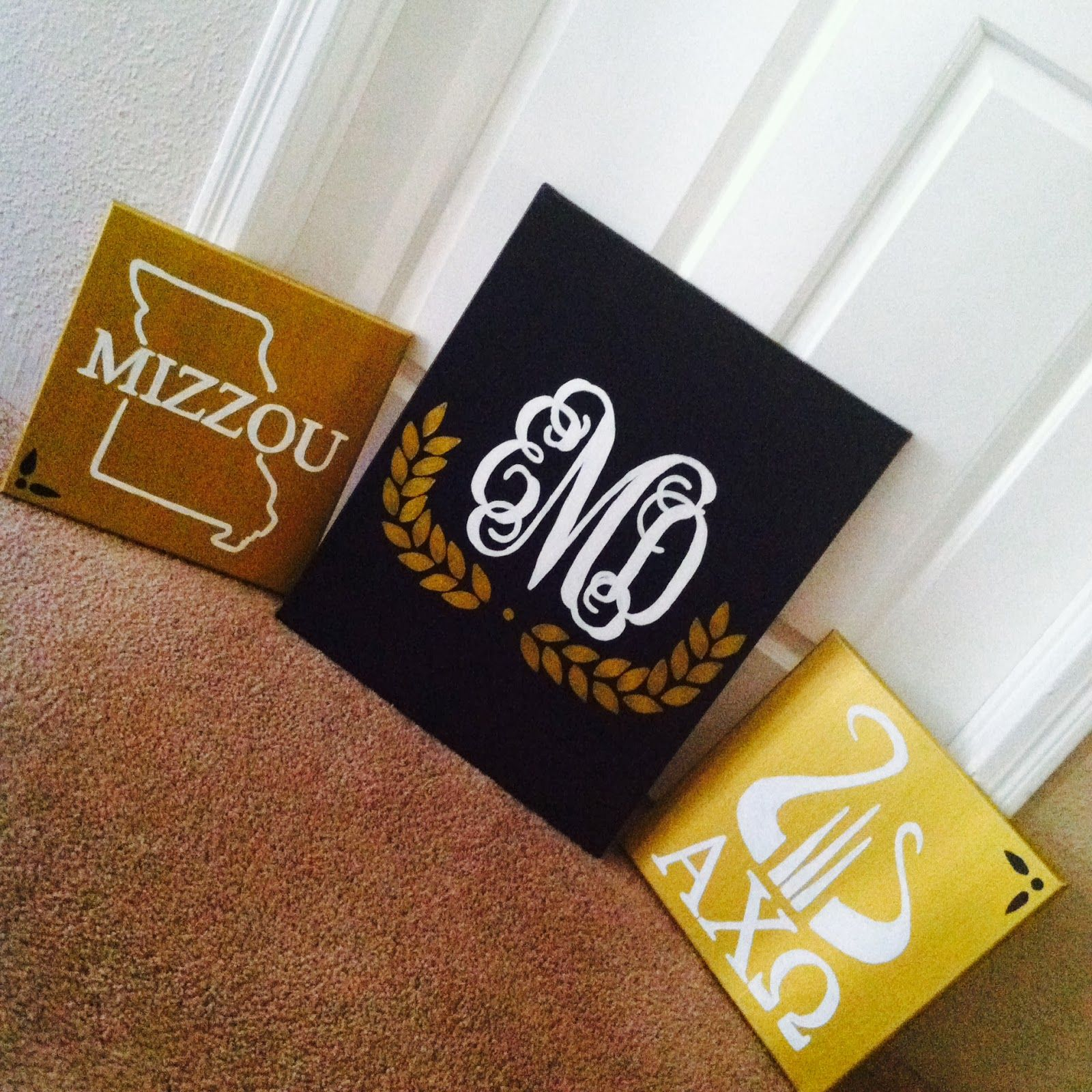 mizzou canvas painting - Google Search | Alpha Chi Omega