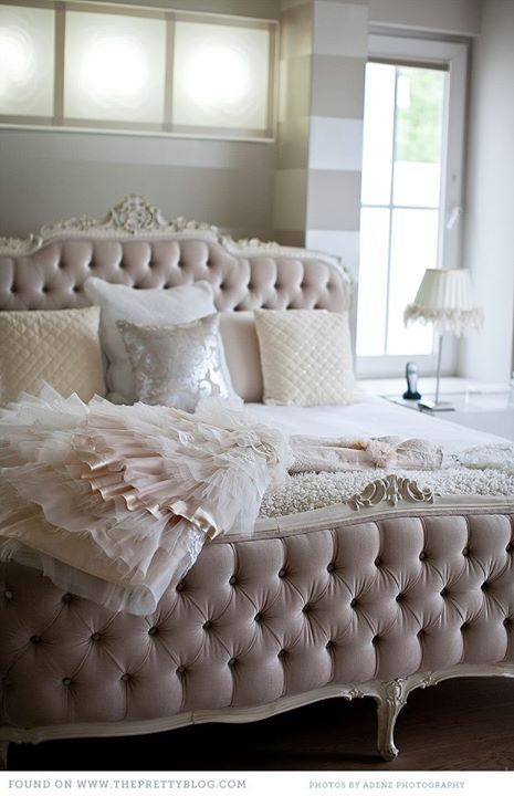 Beautiful tufted headboard & footboard. Bed. Color. | Bedroom decor ...