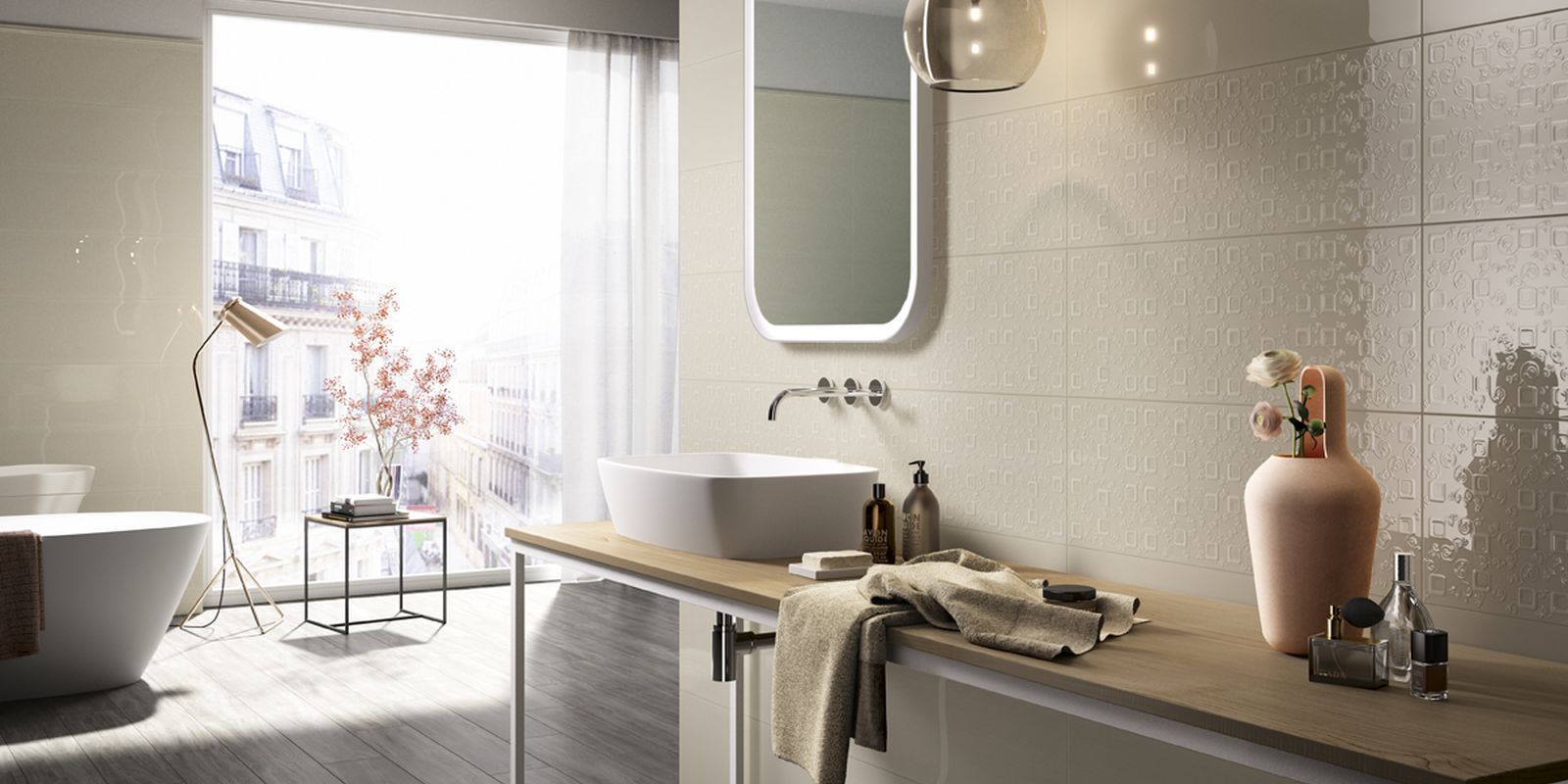 Piastrelle poetique bagno moderno ceramica bicottura am poetique 4 bathroom bathroom - Piastrelle bagno moderno ...