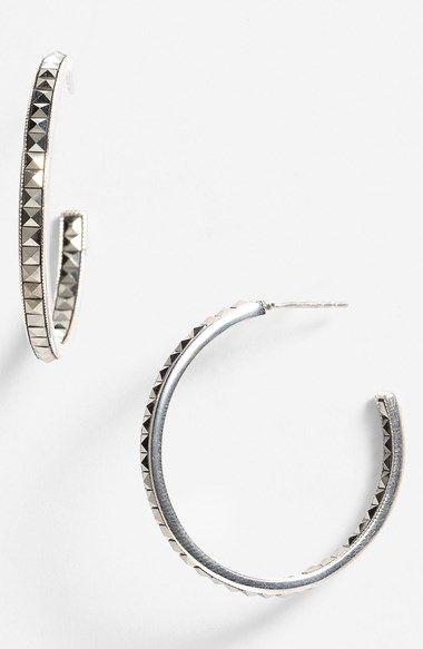Nordstroms Inside Out Hoop Earrings Sterling Silver 925